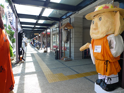 道の駅に案山子が大集合 20120926