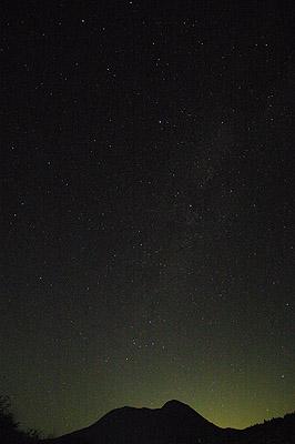 大洞山と天の川 20130708