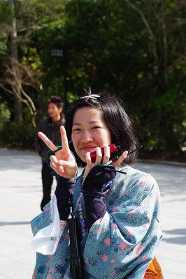 奈良大学・第25回「宝来講」、内宮着!