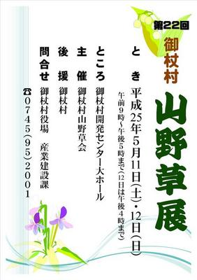 御杖村「山野草展」 2013